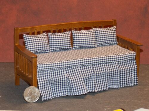 Dollhouse Miniature Daybed Bed Walnut 1:12 one inch scale N63 Dollys Gallery
