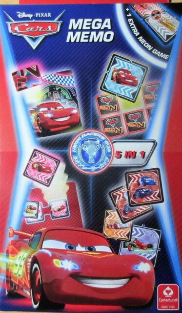 Disney Pixar Cars Mega Memo - 5 in 1 - Mitbringspiel - NEU