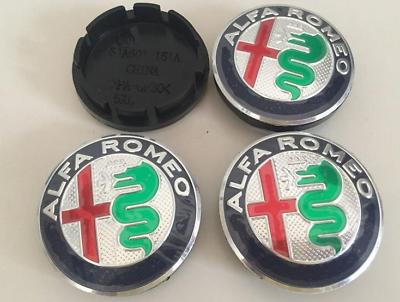 4x56mm 2018 Alfa Romeo Car Wheel Center Hub Cap Badge Aluminium Logo Black White