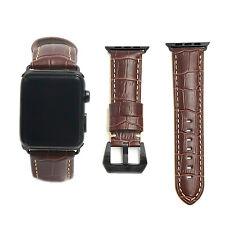 Braun Echtes Leder Armbanduhr Riemen Für Apple Uhr 42 Mm Serie 1 2 Schwarze