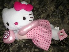 "SANRIO 20"" HELLO KITTY HOLDING TELEPHONE PLUSH LARGE BED BUDDY"