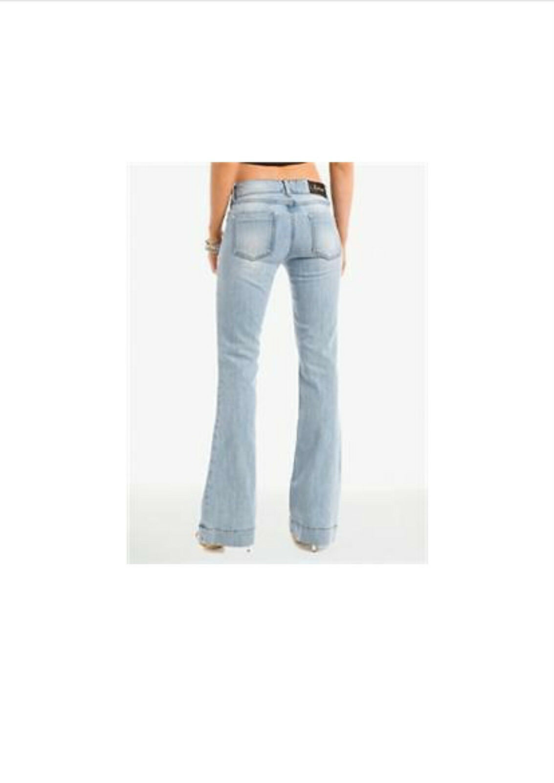 NWT MARCIANO GUESS KARLA FLARE JEANS SIZE 27 28 ICE WASH HOT