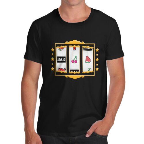 Men/'s Slot Machine Premium Cotton Novelty T-Shirt