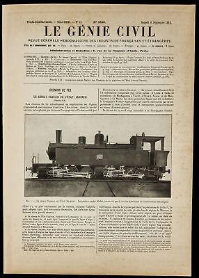 Das Netzwerk Oran Zustand - Tenderlok Mallet. Straightforward 1913 algerien
