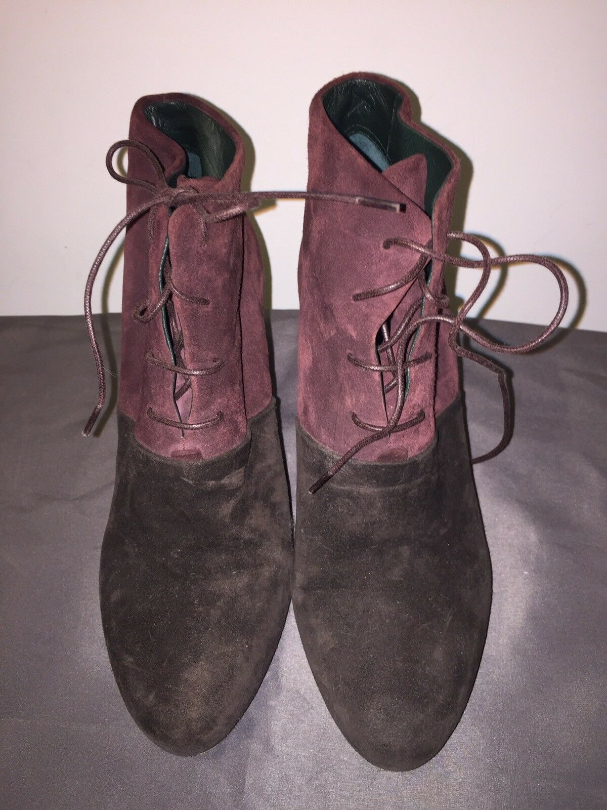 Jil Sander 21154 Women US 8.5 Brown Ankle Wedge Boot