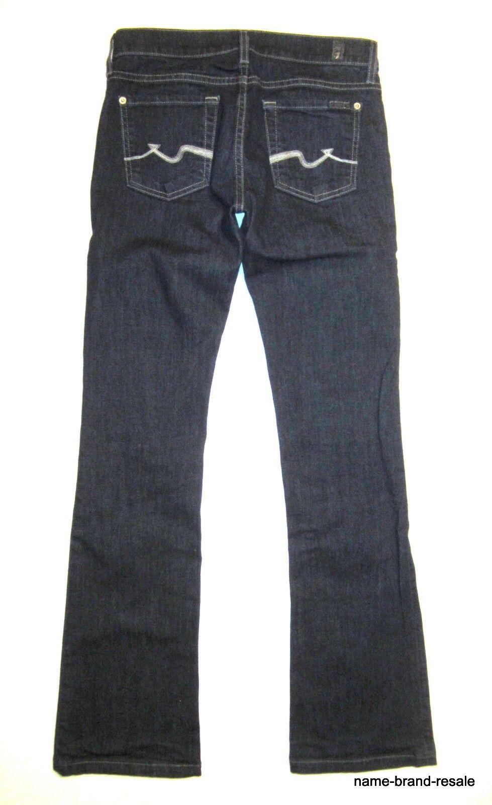 7 FOR ALL MANKIND Womens Jeans 26 x 32 BOOTCUT Dark Denim Wash Boot Cut