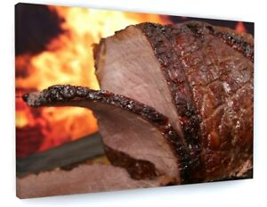 FOOD-CAFE-RESTAURANT-KITCHEN-BEEF-JOINT-CARVERY-CANVAS-PICTURE-WALL-ART-A422