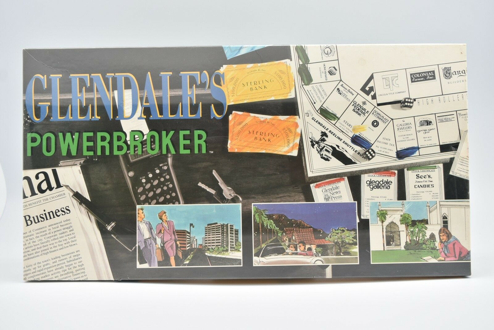 venta al por mayor barato Glendale's Glendale's Glendale's powerbroker Juego de Mesa 1989  la mejor selección de
