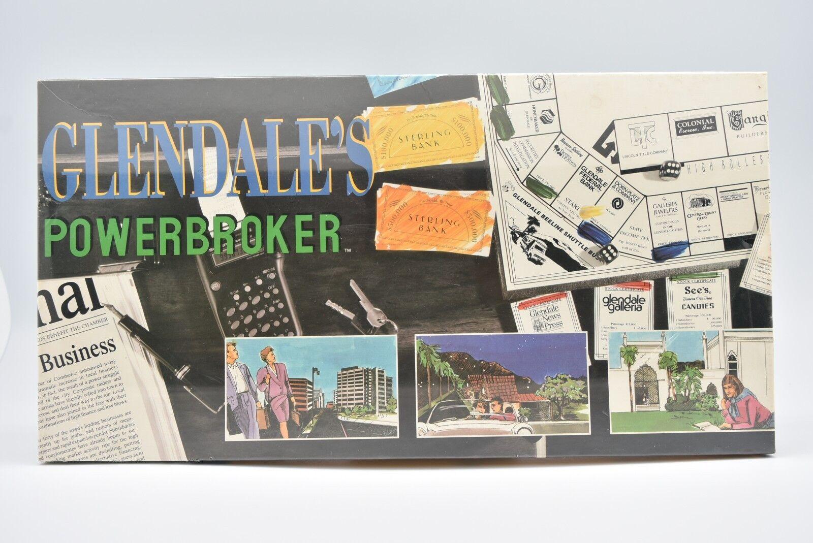 1989 Glendale's Powerbroker Board Game