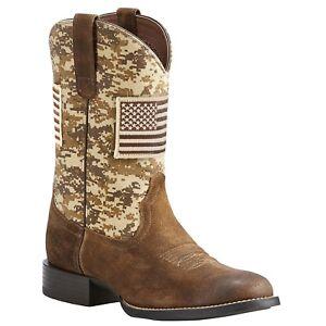 dbea478b461a6 Ariat® Men's Brown Sport Patriot Round Toe Boot 10023362 | eBay