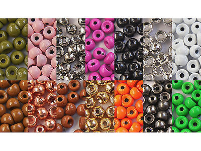 100x BILLE LAITON //BEAD  COLORE 2mm montage mouche fly tying