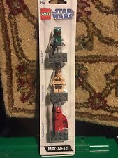 lego star wars detachable magnet set boba fett,imperial guard, slave leia