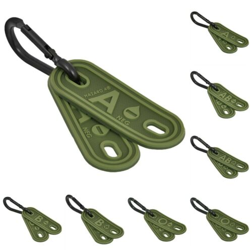 Hazard 4 Blood Type Marker Kit Set Of Two Blood Rubber Airsoft Tactical Od Green