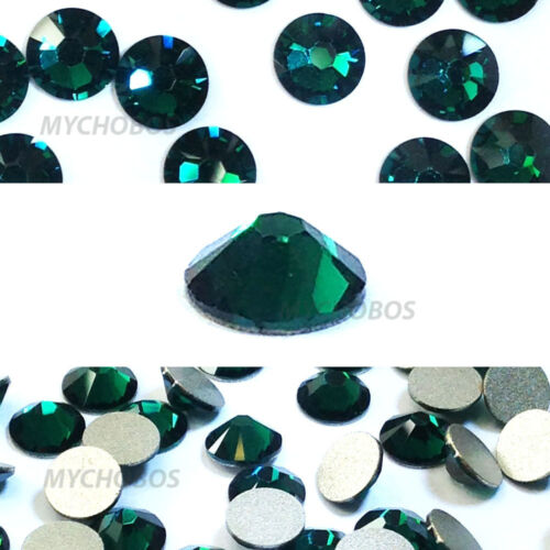 EMERALD Green 10ss 2.8mm 144 pieces Swarovski Flatback Crystal Rhinestones 2058