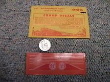 Champ decals HO Stripes S-37 HO gauge Frisco Triple F emblem stripes  J5