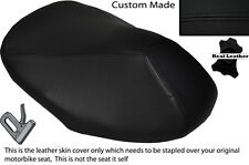 BLACK STITCH CUSTOM FITS YAMAHA AEROX YQ 50 100 99-10 FRONT LEATHER SEAT COVER