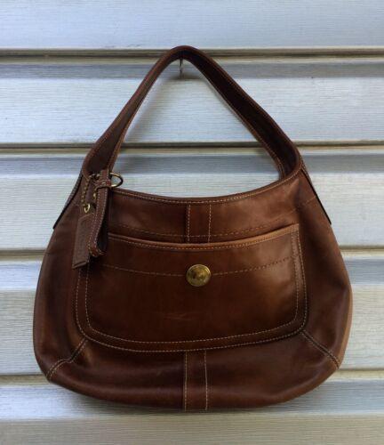 COACH Brown Leather Ergo Hobo Satchel Handbag