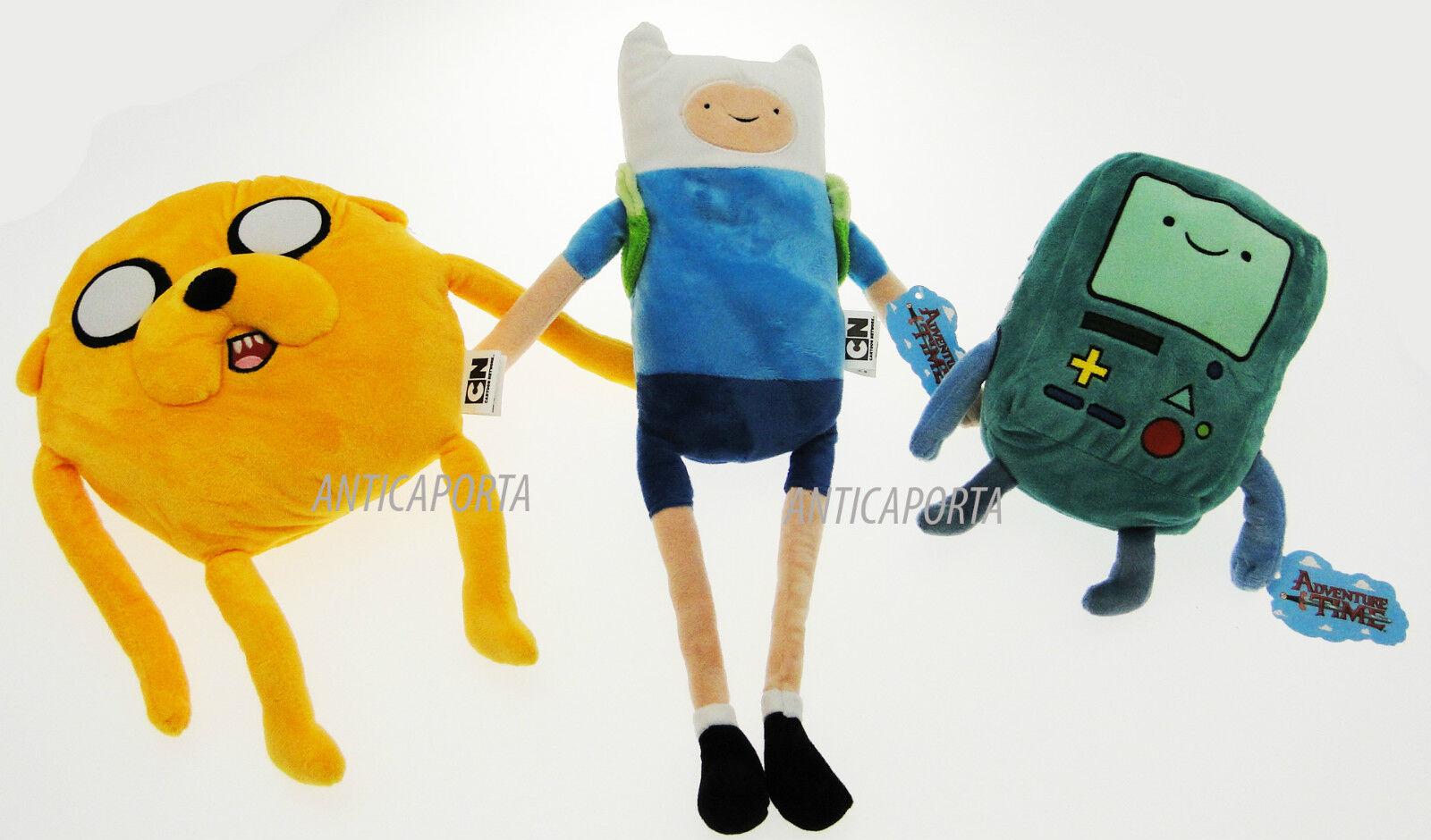Peluche Adventure Time Originali Jake Finn BMO Cane Ragazzo Gioco Enormi Morbidi