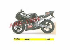 SERIE ADESIVI DECALCO CUPOLINO APRILIA RS 50 1998 NERO  8257016