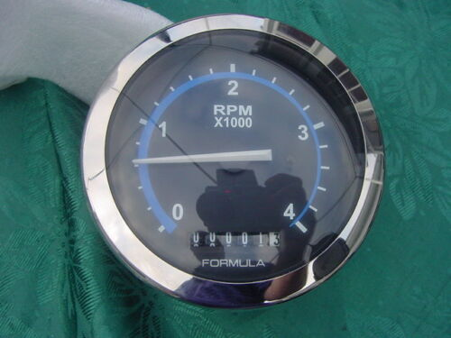 FORMULA BOAT TACHOMETER FL400H129DBKCH LIVORSI FGL4000H129DB 12 VOLT save!!