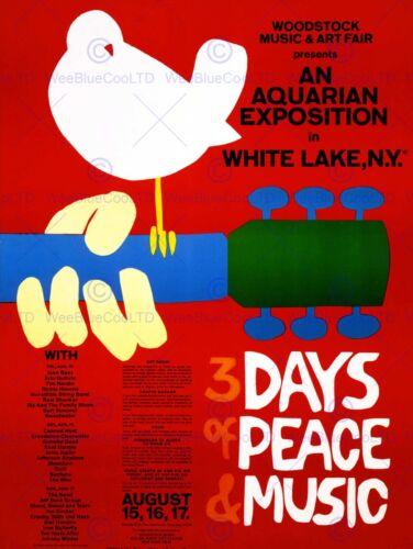MUSIC FESTIVAL CONCERT WOODSTOCK NY PEACE DOVE LOVE LEGEND POSTERPRINT BB6787B