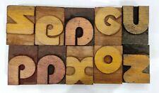 Letterpress Letter Wood Type Printers Block Lot Of 10 Typography Eb 131