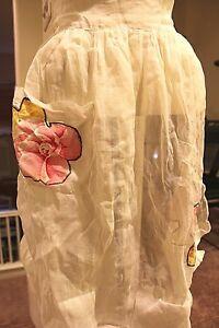 Antique-Rare-Vintage-Apron-Linen-with-Floral-Appliques-AMAZING-FIND