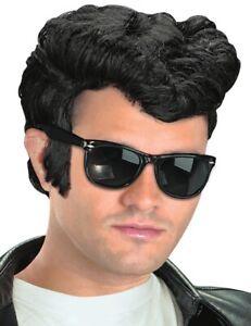 Greaser Grease 50s Danny T-bird Rock & Roll Men Costume Wig