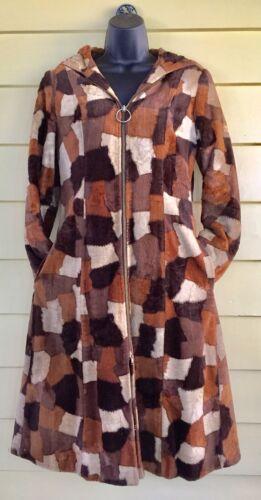 Vintage 1960s Hippie Boho Coat Faux Patchwork Faux