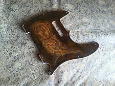 Hand Tooled Custom Leather Pickguard fits Fender Telecaster Tele 5/8 Hole