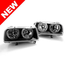 93-99 VW JETTA VENTO MK3 E-CODE ANGEL EYE HEADLIGHTS - BLACK
