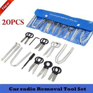 Forceful 20pcs Car Stereo Radio Dash Removal Tool Key Set For Mercedes Bmw Vw Audi Fordq5 Fish & Aquariums