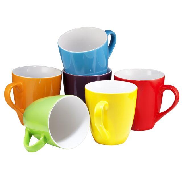 Coffee Mug Set Of 6 Large Sized 16 Ounce Ceramic Mugs Restaurant
