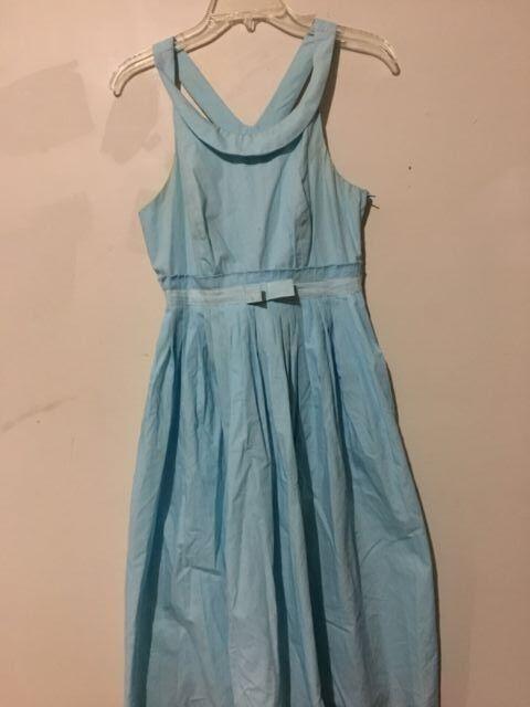 Aryeh Turquoise Polka Dot Größe S damen Dress Mid ridge Ribbon Stylish
