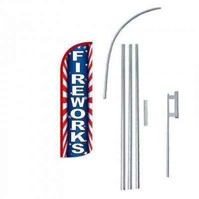 Fireworks Premium Extra Wide Windless Swooper Flag Bundle Ebay