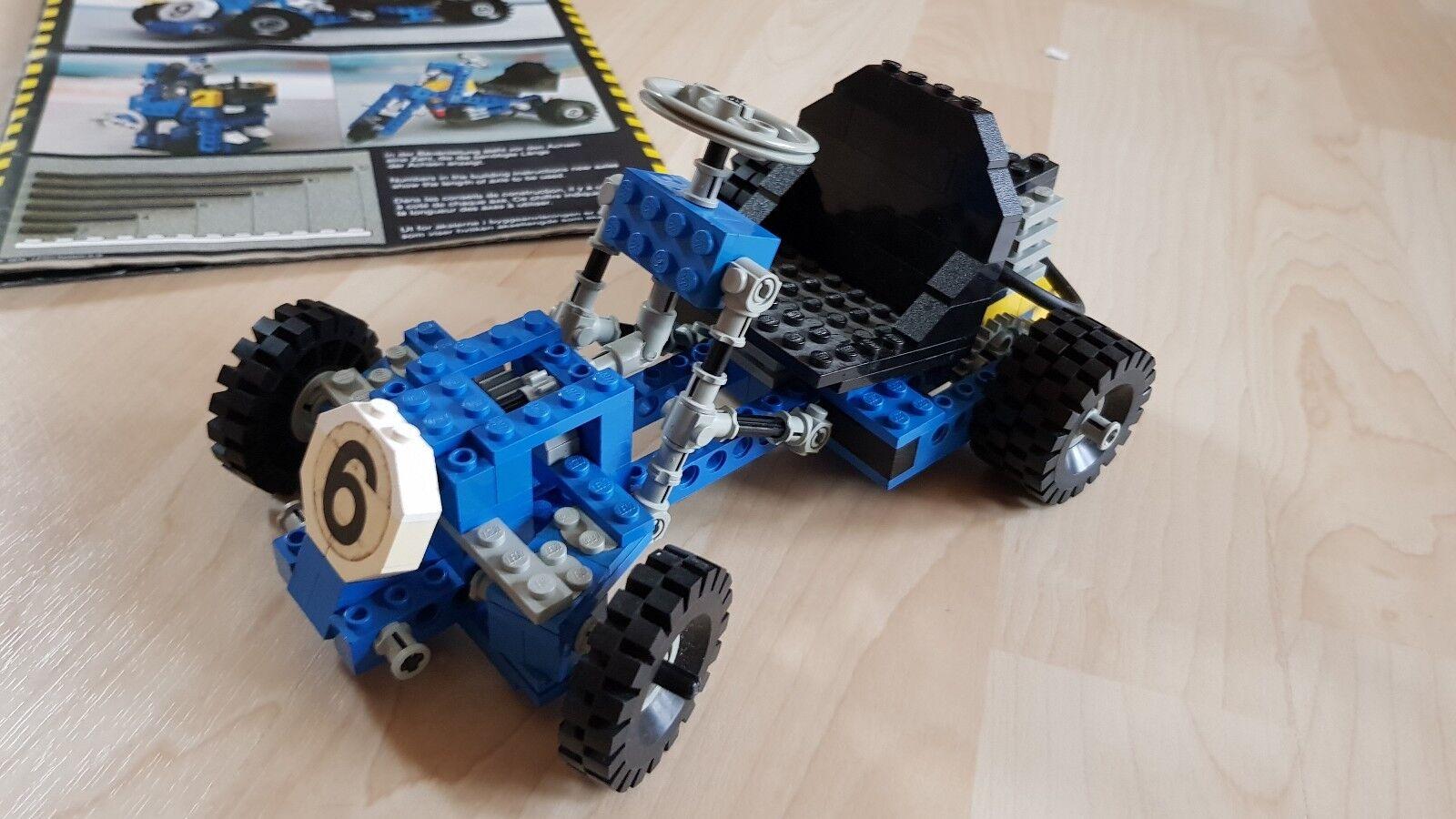 LEGO Technic 854 Go Cart von 1978 100% komplett mit OBA
