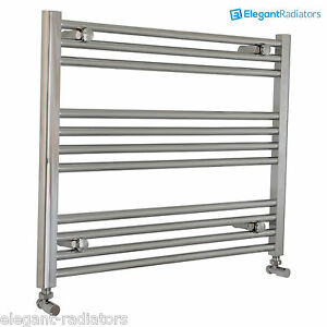 Details About 600 Mm High Heated Towel Rail Radiator Chrome Flat Designer Bathroom Niche Size