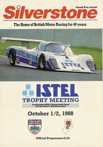 Racing-other Lower Price with Silverstone Istel Trophy Meeting 1/2nd Oct 1988 Programme Fan Apparel & Souvenirs