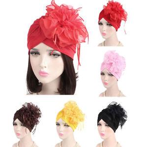 Muslim-Women-Hijab-Hat-Islamic-Flower-Cap-Underscarf-Arab-Headwear-Turban-Chemo