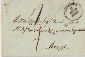1853 Prefilatelica da Alessandria x Arezzo