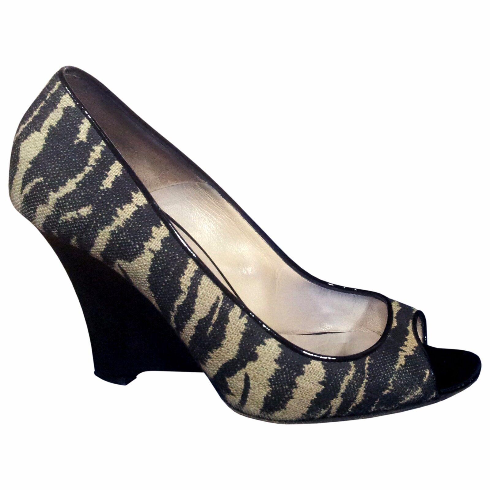 spedizione e scambi gratuiti. BRIAN ATWOOD donna Wedge Textile scarpe Dimensione 39 39 39 9 Heels Pumps Sandals Tiger  benvenuto a comprare