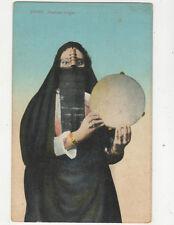 Egypt Arabian Singer Femme Arabe Chanteuse Vintage Postcard Andreopoulos US038