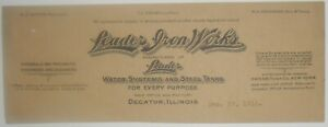 1910-Letterhead-Top-Decatur-Illinois-Leader-Iron-Wors-Top-Only