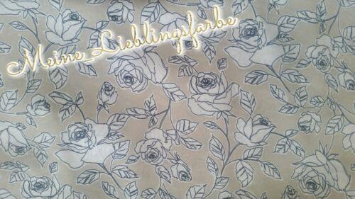 Chiffon METERWARE sustancia rosas Flores camisa arena beige 6 €//m