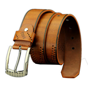Men-Leather-Business-Waistband-Pin-Buckle-Belt-Casual-Fashion-Retro-Hollow-Belt