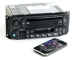 Dodge Jeep Chrysler 02 06 Am Fm Cd Cassette W Bluetooth