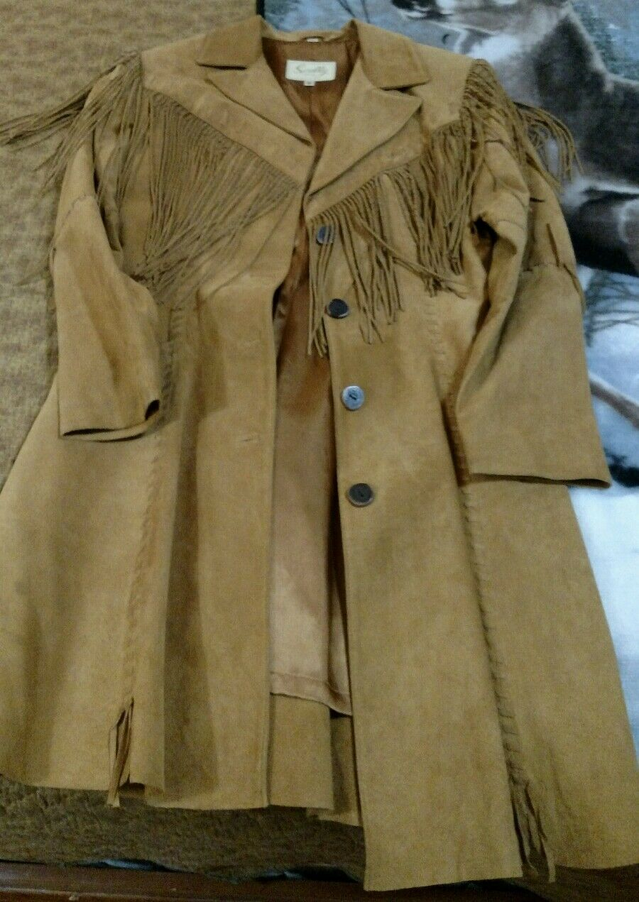 Scully petite womens leather coat size 8