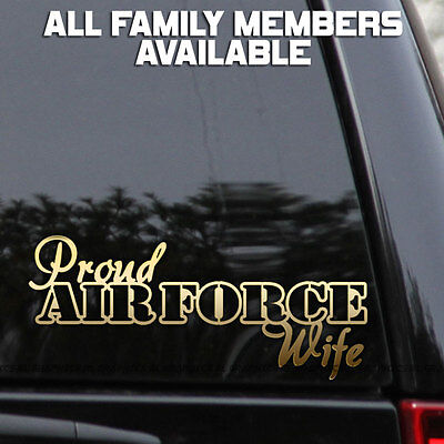 Proud Air Force Wife Hibiscus Flowers Car or Truck Window Laptop Decal Sticker