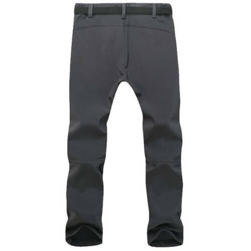 Men Winter Fleece Slim Fit Windproof Hiking Climbing Outdoor Ski Pants Trousers