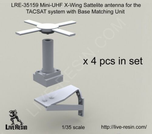 Live Resin 1//35 LRE-35159 Mini-UHF X-Wing Sattelite Antenna for TACSAT System